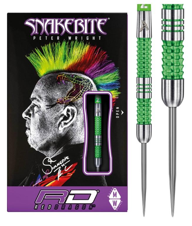 Dartpfeile Steel Dart Peter Snakebite Wright Mamba 2 II 22g Red Dragon Dart